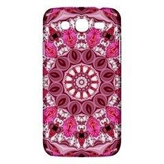 Twirling Pink, Abstract Candy Lace Jewels Mandala  Samsung Galaxy Mega 5.8 I9152 Hardshell Case