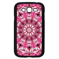 Twirling Pink, Abstract Candy Lace Jewels Mandala  Samsung Galaxy Grand Duos I9082 Case (black)