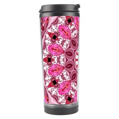 Twirling Pink, Abstract Candy Lace Jewels Mandala  Travel Tumbler