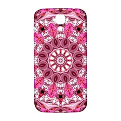Twirling Pink, Abstract Candy Lace Jewels Mandala  Samsung Galaxy S4 I9500/i9505  Hardshell Back Case