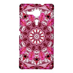 Twirling Pink, Abstract Candy Lace Jewels Mandala  Sony Xperia SP M35H Hardshell Case