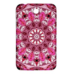 Twirling Pink, Abstract Candy Lace Jewels Mandala  Samsung Galaxy Tab 3 (7 ) P3200 Hardshell Case