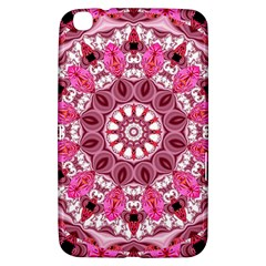 Twirling Pink, Abstract Candy Lace Jewels Mandala  Samsung Galaxy Tab 3 (8 ) T3100 Hardshell Case