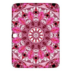 Twirling Pink, Abstract Candy Lace Jewels Mandala  Samsung Galaxy Tab 3 (10 1 ) P5200 Hardshell Case