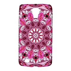 Twirling Pink, Abstract Candy Lace Jewels Mandala  Samsung Galaxy S4 Active (I9295) Hardshell Case