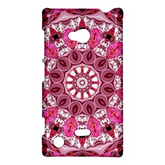 Twirling Pink, Abstract Candy Lace Jewels Mandala  Nokia Lumia 720 Hardshell Case