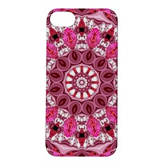Twirling Pink, Abstract Candy Lace Jewels Mandala  Apple Iphone 5s Hardshell Case
