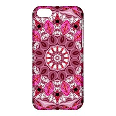 Twirling Pink, Abstract Candy Lace Jewels Mandala  Apple iPhone 5C Hardshell Case