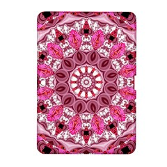 Twirling Pink, Abstract Candy Lace Jewels Mandala  Samsung Galaxy Tab 2 (10.1 ) P5100 Hardshell Case