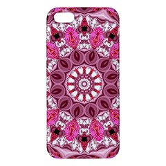 Twirling Pink, Abstract Candy Lace Jewels Mandala  iPhone 5S Premium Hardshell Case
