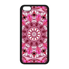 Twirling Pink, Abstract Candy Lace Jewels Mandala  Apple iPhone 5C Seamless Case (Black)
