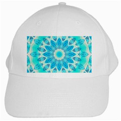 Blue Ice Goddess, Abstract Crystals Of Love White Baseball Cap