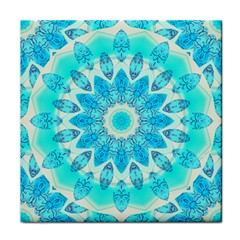 Blue Ice Goddess, Abstract Crystals Of Love Ceramic Tile