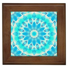 Blue Ice Goddess, Abstract Crystals Of Love Framed Ceramic Tile