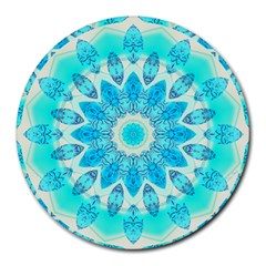 Blue Ice Goddess, Abstract Crystals Of Love 8  Mouse Pad (round)