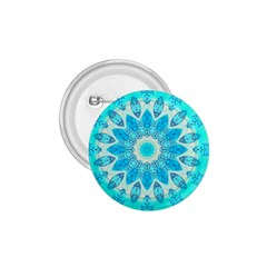 Blue Ice Goddess, Abstract Crystals Of Love 1.75  Button