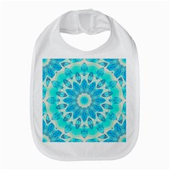 Blue Ice Goddess, Abstract Crystals Of Love Bib