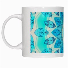 Blue Ice Goddess, Abstract Crystals Of Love White Coffee Mug