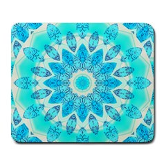 Blue Ice Goddess, Abstract Crystals Of Love Large Mouse Pad (Rectangle)
