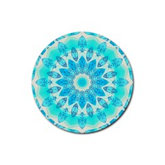 Blue Ice Goddess, Abstract Crystals Of Love Drink Coasters 4 Pack (Round)