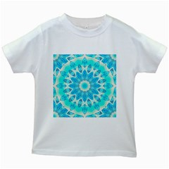 Blue Ice Goddess, Abstract Crystals Of Love Kids T Shirt (white)