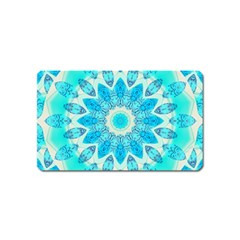 Blue Ice Goddess, Abstract Crystals Of Love Magnet (Name Card)