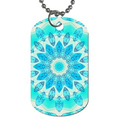 Blue Ice Goddess, Abstract Crystals Of Love Dog Tag (One Sided)