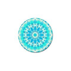 Blue Ice Goddess, Abstract Crystals Of Love Golf Ball Marker