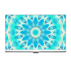 Blue Ice Goddess, Abstract Crystals Of Love Business Card Holder