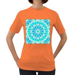 Blue Ice Goddess, Abstract Crystals Of Love Women s T-shirt (Colored)