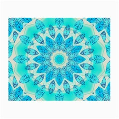 Blue Ice Goddess, Abstract Crystals Of Love Glasses Cloth (small)