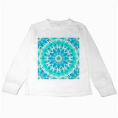 Blue Ice Goddess, Abstract Crystals Of Love Kids Long Sleeve T-Shirt