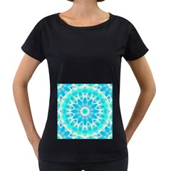 Blue Ice Goddess, Abstract Crystals Of Love Women s Loose-Fit T-Shirt (Black)