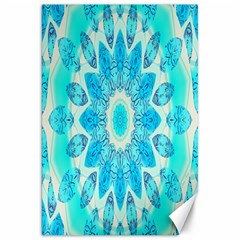 Blue Ice Goddess, Abstract Crystals Of Love Canvas 20  x 30  (Unframed)