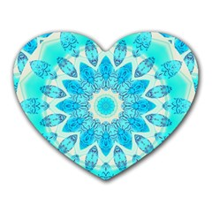 Blue Ice Goddess, Abstract Crystals Of Love Mouse Pad (Heart)