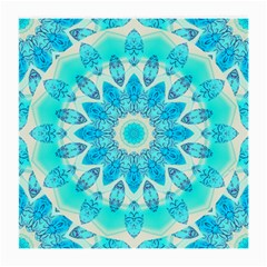 Blue Ice Goddess, Abstract Crystals Of Love Glasses Cloth (Medium, Two Sided)