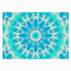Blue Ice Goddess, Abstract Crystals Of Love Glasses Cloth (Large, Two Sided)