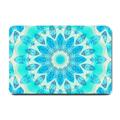 Blue Ice Goddess, Abstract Crystals Of Love Small Door Mat