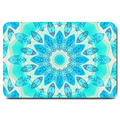 Blue Ice Goddess, Abstract Crystals Of Love Large Door Mat