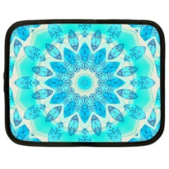 Blue Ice Goddess, Abstract Crystals Of Love Netbook Sleeve (large)