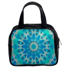 Blue Ice Goddess, Abstract Crystals Of Love Classic Handbag (two Sides)