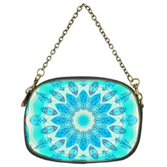 Blue Ice Goddess, Abstract Crystals Of Love Chain Purse (One Side)