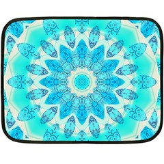 Blue Ice Goddess, Abstract Crystals Of Love Mini Fleece Blanket (two Sided)