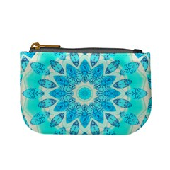 Blue Ice Goddess, Abstract Crystals Of Love Coin Change Purse