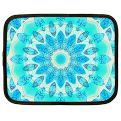 Blue Ice Goddess, Abstract Crystals Of Love Netbook Sleeve (XL)