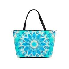Blue Ice Goddess, Abstract Crystals Of Love Large Shoulder Bag