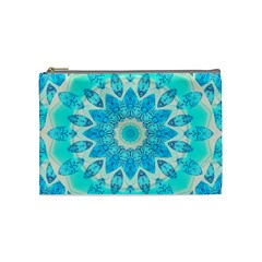 Blue Ice Goddess, Abstract Crystals Of Love Cosmetic Bag (medium)