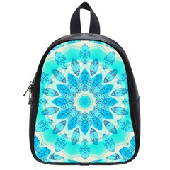 Blue Ice Goddess, Abstract Crystals Of Love School Bag (Small)