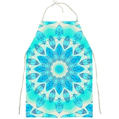 Blue Ice Goddess, Abstract Crystals Of Love Apron