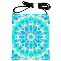 Blue Ice Goddess, Abstract Crystals Of Love Shoulder Sling Bag
